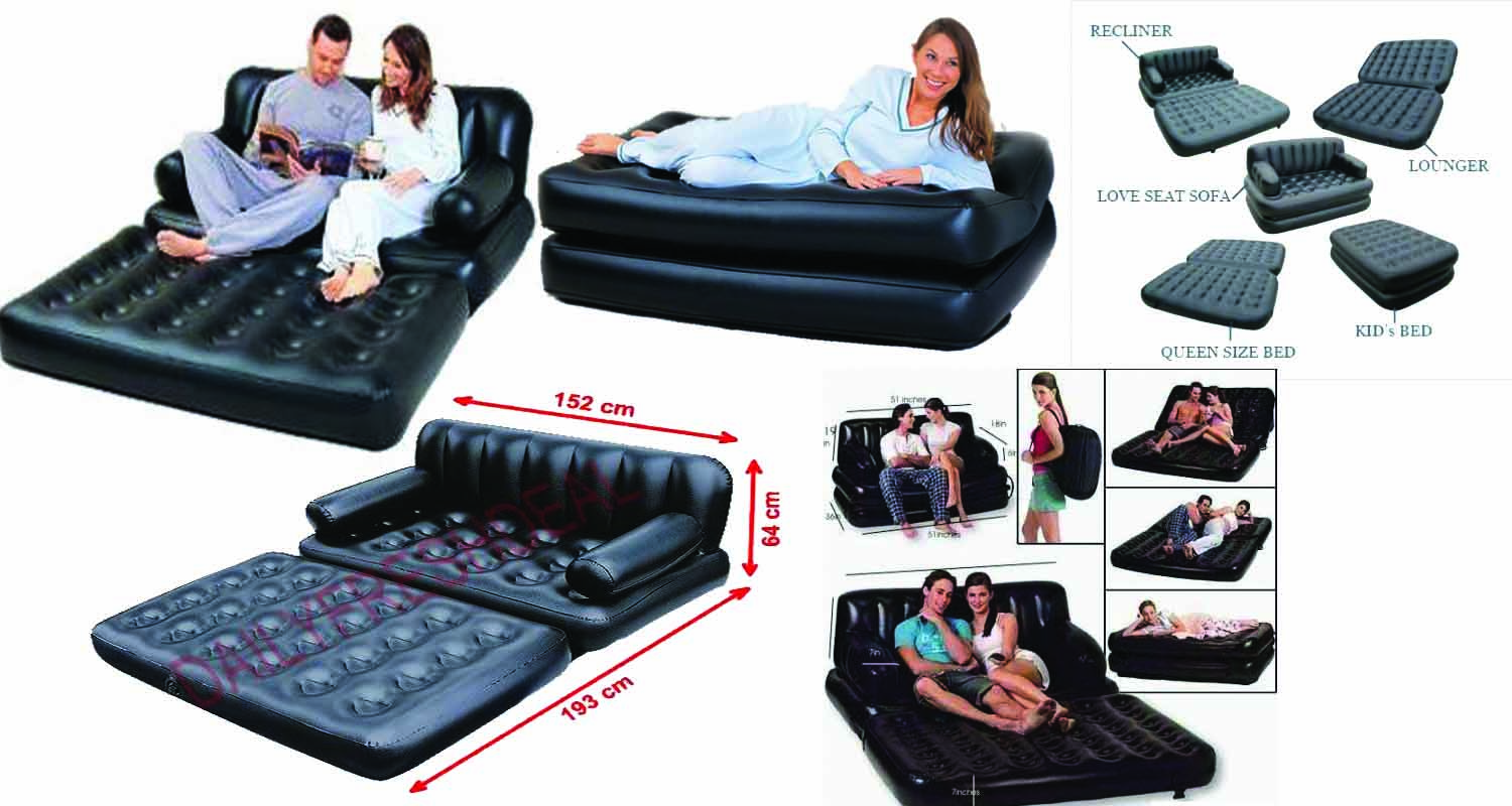 air lounge sofa cum bed 5 in 1 in pakistan dstore. Black Bedroom Furniture Sets. Home Design Ideas